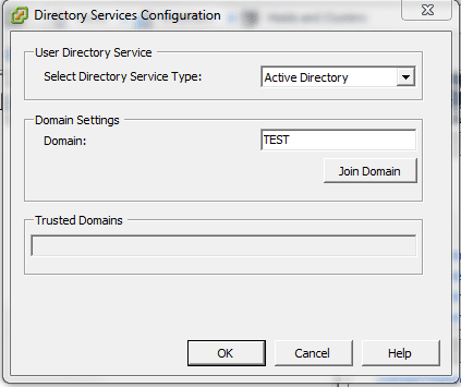 dom3 Joining ESXi to a Domain