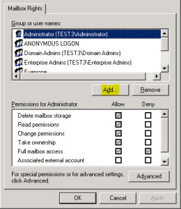 ex2k33-260x300 How to allow a user to open another user's mailbox Exchange 2010 and Exchange 2003
