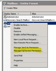 exchange20101-238x300 How to allow a user to open another user's mailbox Exchange 2010 and Exchange 2003