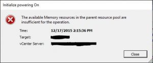 resource01-300x124 VMware vSphere 6 available memory resources in the parent resource pool are insufficient