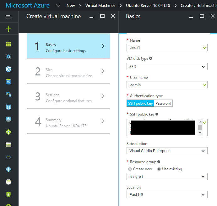 azure05 Setup Azure Linux Public Key Authentication