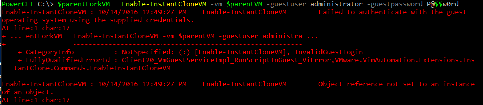 instant02 VMware PowerCLI Instant Clone Lab