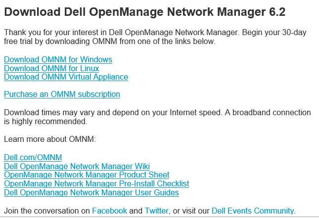 omnm01 Dell Openmanage Network Manager 6.2 Appliance Install and Configure