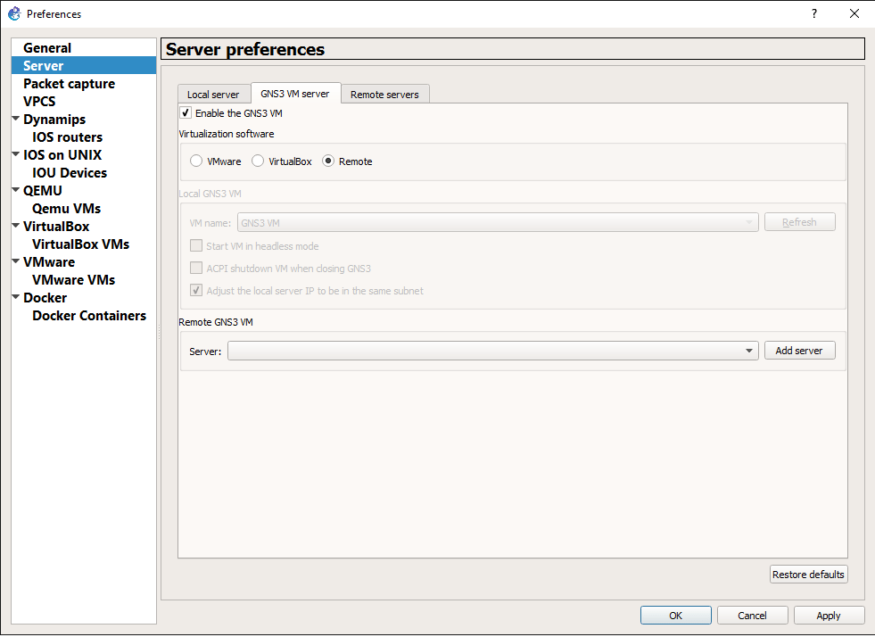 gns3win18 Use VIRL Images in GNS3