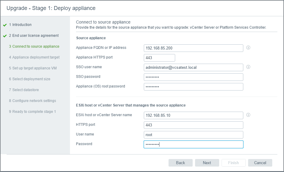 vc65up05 Upgrade VMware vCenter VCSA appliance 6.0 to 6.5