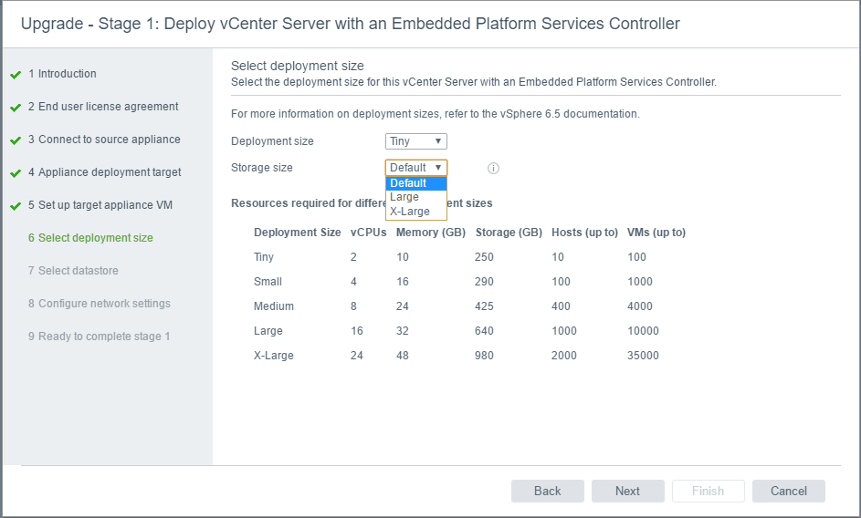 vc65up10 Upgrade VMware vCenter VCSA appliance 6.0 to 6.5