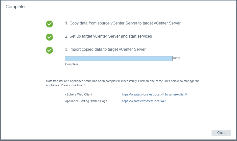 vc65up31 Upgrade VMware vCenter VCSA appliance 6.0 to 6.5