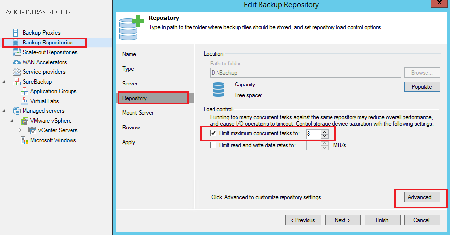 veeamperf06 Configure Veeam Backup and Replication for optimal performance