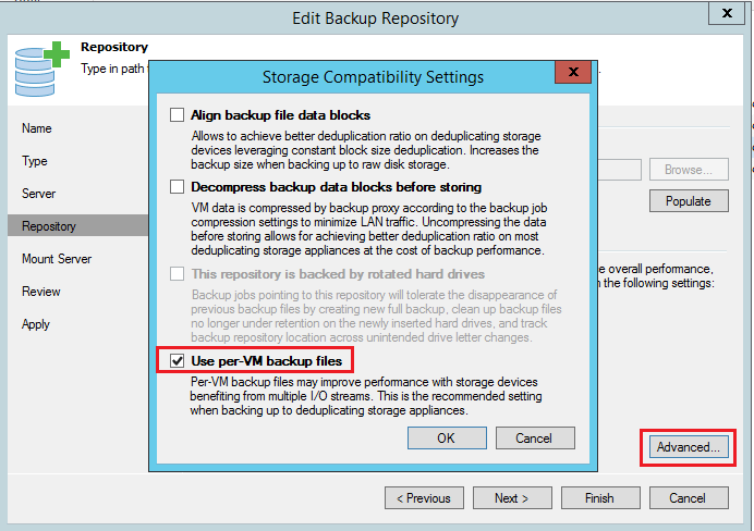 veeamperf07 Configure Veeam Backup and Replication for optimal performance