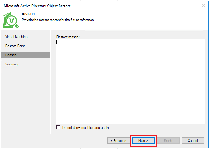 vbr_ad05 Veeam Restore Windows Server 2016 Active Directory Objects