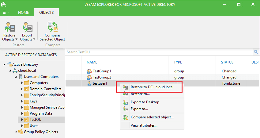vbr_ad14 Veeam Restore Windows Server 2016 Active Directory Objects