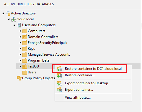 vbr_ad21 Veeam Restore Windows Server 2016 Active Directory Objects