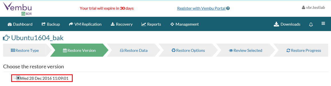 vembuquick03 Vembu Quick VM Recovery Ensures Business Continuity with Minimal Downtime