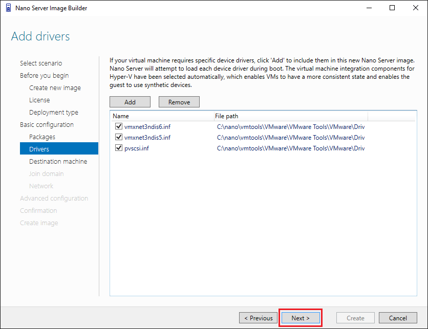 nano08 Install Windows Server 2016 Hyper-V Nano Server in VMware ESXi