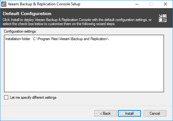 veeamcon04 Install Veeam 9.5 Backup and Replication Remote Console with PowerShell Snapin