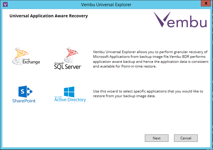 vembuapp01b Vembu BDR Suite Consistent Application Aware Backup and Restore