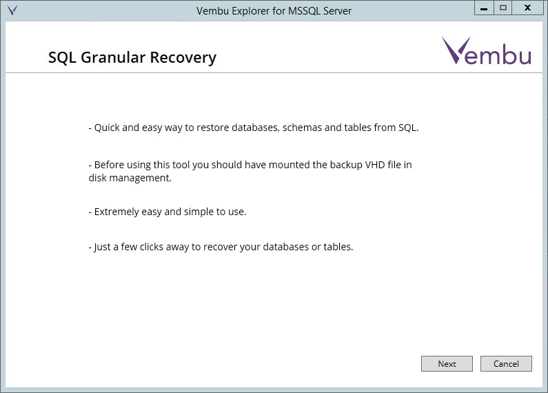 vembuapp03 Vembu BDR Suite Consistent Application Aware Backup and Restore