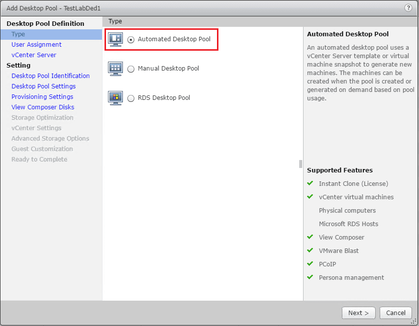 Create Dedicated Linked Clones with VMware Horizon View 7 1