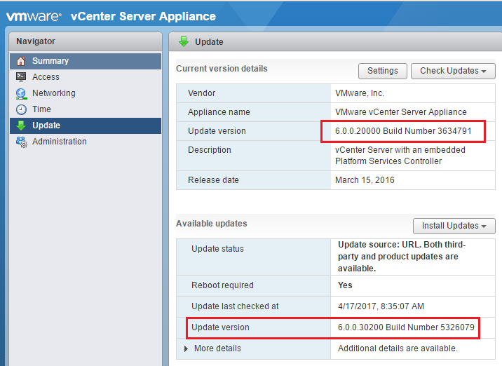 vc6u3b01 Upgrade VMware vCenter VCSA appliance to 6.0 U3b