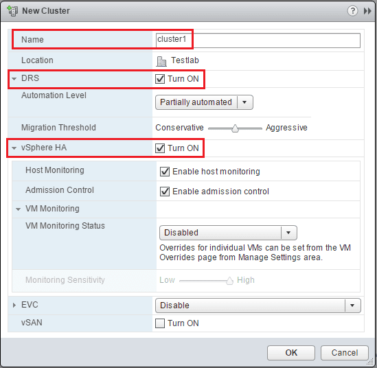 vmwclus04 Configure VMware vSphere Cluster with Web Client or PowerCLI