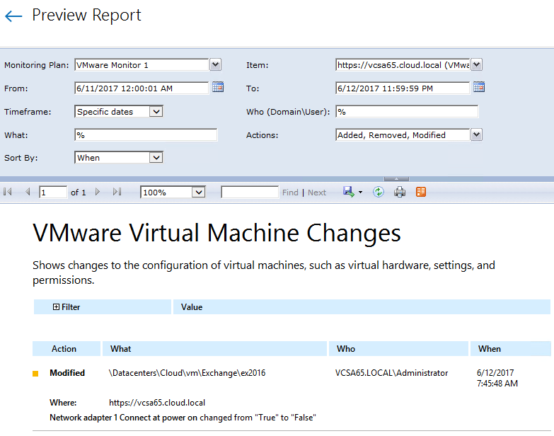 netwvm13 Audit VMware vSphere changes with Netwrix Auditor