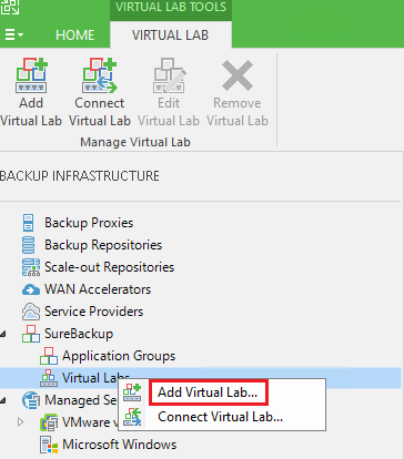 veaamlab01 Create Veeam Isolated Sandbox Virtual Lab