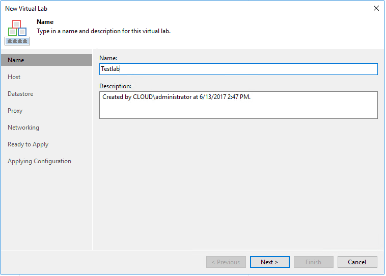 veaamlab02 Create Veeam Isolated Sandbox Virtual Lab