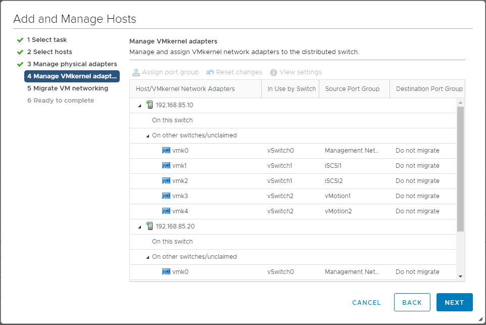 Managing-Distributed-Switch-VMkernel-adapters Upgrading VMware vSphere VCSA Appliance to 6.5 Update 1