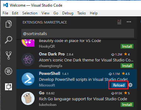 vscinst04 Migrate from Powershell ISE to Visual Studio Code