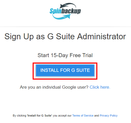 Spinbackup-G-Suite-Backup-and-Security-Install-Trial