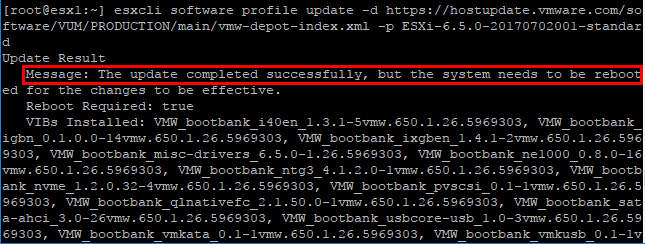 The-update-to-ESXi-6.5-update-1-on-the-host-is-successful