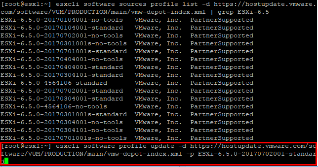 Use-the-ESXCLI-command-to-update-to-ESXi-6.5-update-1