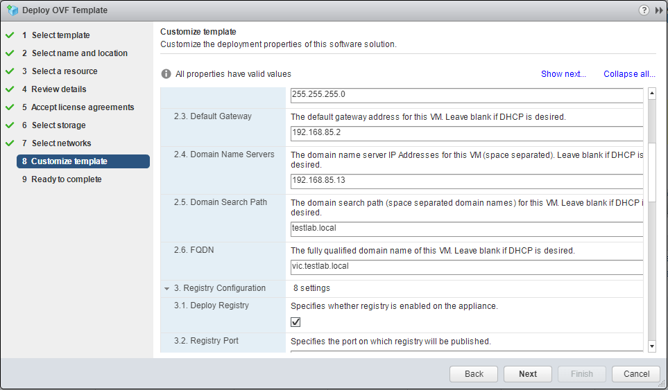 VMware-vSphere-Integrated-Containers-Template-customization Installing VMware vSphere Integrated Containers Part 1