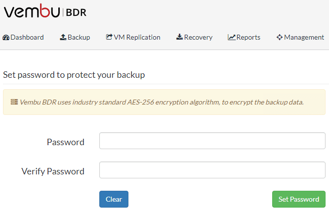 Vembu-3.8-BDR-Suite-Encryption-Settings Vembu BDR Suite 3.8 Released with New Features