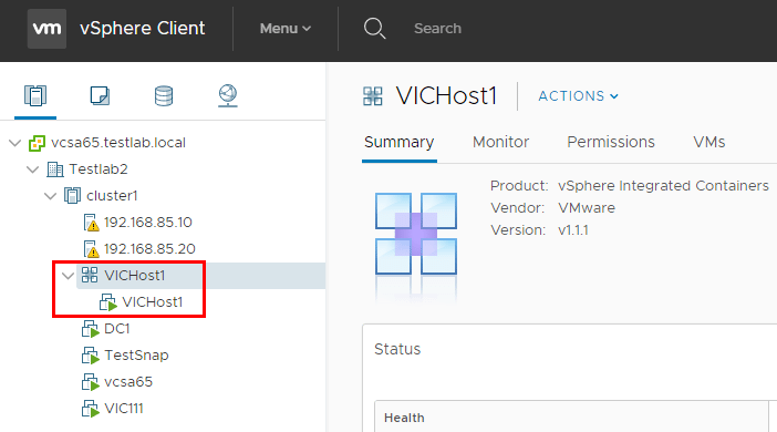 vSphere-Integrated-Containers-VIC-Host-is-provisioned-in-vCenter