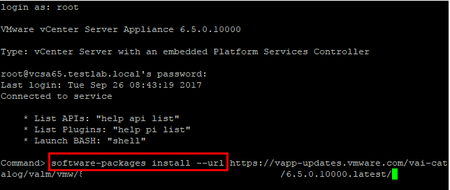 Pull-patches-from-the-online-default-patch-repository Install VMware VCSA vCenter Appliance Photon OS Security Patches