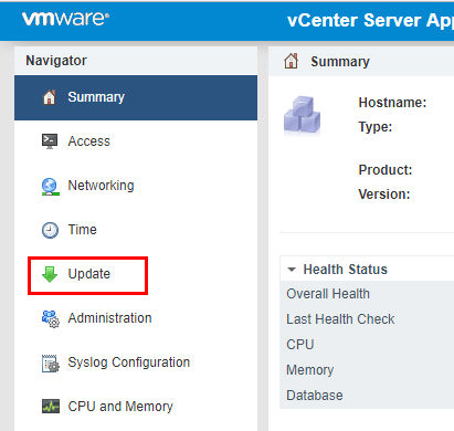 VCSA-VAMI-GUI-patch-install Install VMware VCSA vCenter Appliance Photon OS Security Patches