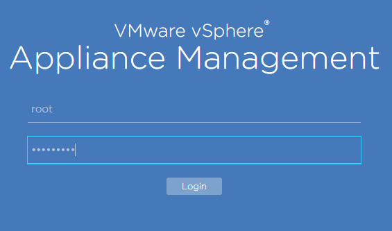 VCSA-patch-login-to-VAMI Install VMware VCSA vCenter Appliance Photon OS Security Patches
