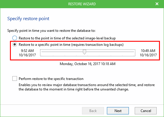 Restoring-SQL-with-transaction-log-restore-points Veeam SQL Transaction Log Backups