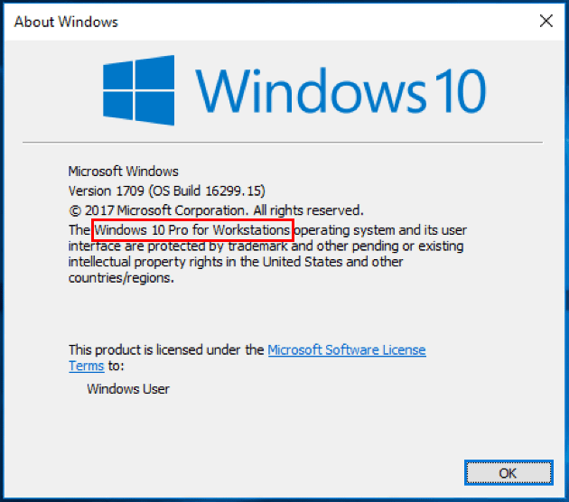 Checking-winver-for-Windows-10-Pro-for-Workstations-upgrade Installing Windows 10 Pro for Workstations