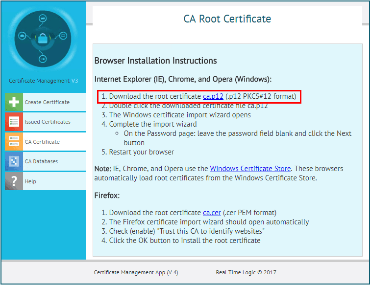 Click-the-link-to-download-the-root-certificate