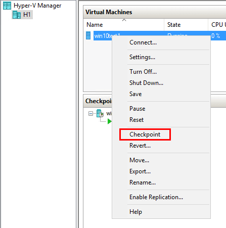 Create-a-Hyper-V-checkpoint Use Snapshots in Production with Hyper-V Production Checkpoints