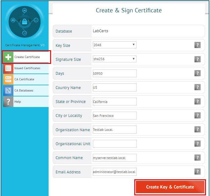 Create-a-new-server-certificate Easy SSL Certificates for Lab Environments