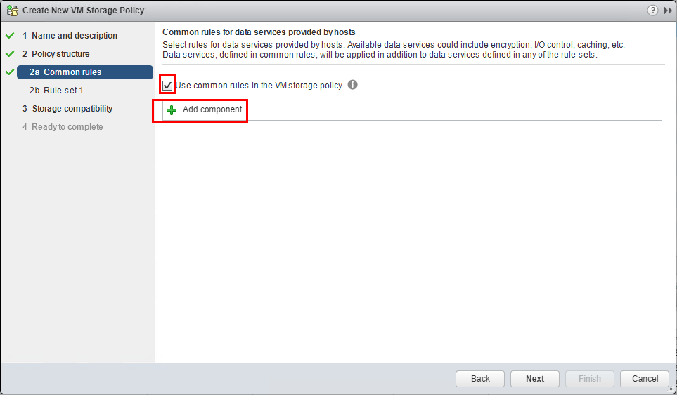Add-components-to-the-VM-storage-policy Setup and Configure VMware vSphere 6.5 Storage I/O Control