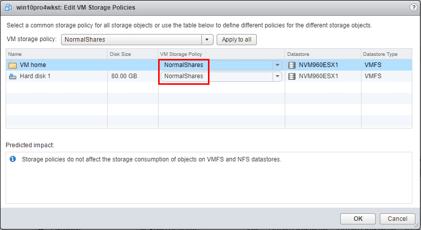 After-applying-the-VM-Storage-Policy-to-the-VM-files Setup and Configure VMware vSphere 6.5 Storage I/O Control