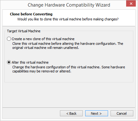 Choose-to-clone-for-backup-before-changing Change Boot Drive to NVMe Storage Controller in VMware Workstation 14