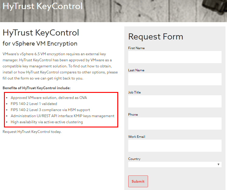 Fill-out-the-Hytrust-KeyControl-REquest-form Hytrust VMware Virtual Machine Encryption