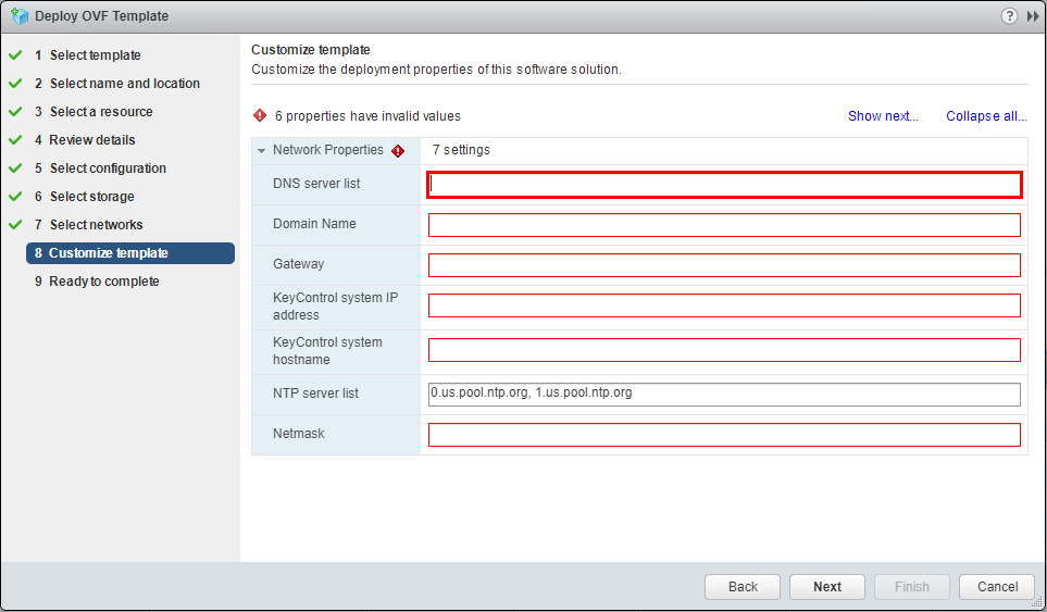 Hytrust-KeyControl-customize-template-network-options Hytrust VMware Virtual Machine Encryption