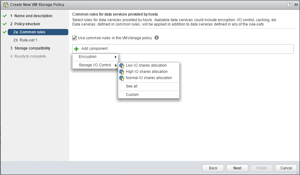 Select-storage-io-control-SIOC-and-the-shares-option-you-choose Setup and Configure VMware vSphere 6.5 Storage I/O Control