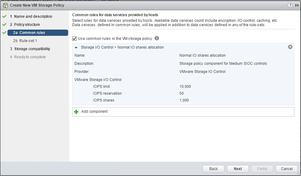 Storage-IO-control-VM-storage-policy-configured-for-normal-shares Setup and Configure VMware vSphere 6.5 Storage I/O Control